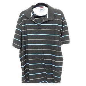 Other - Wrangler vintage 100% cotton gray striped polo 2XL